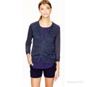 J Crew Marked Zip Up Cardigan Size Medium
